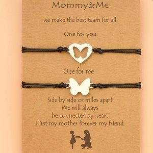 Matching Mommy & Me Adjustable Bracelets with card